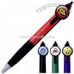 Flip action logo dome pen