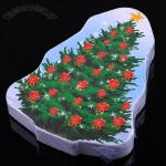 Flower Adorned Christmas Tree Style Soft Compressed Towel Travel Companion