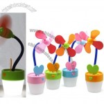 Flower Desk Fan with LED Night Light