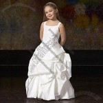 Flower Girl Dress with Zipper Back
