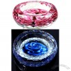Flower Image Crystal Ashtray