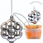 Flower Shaped Tea Infuser with Chain
