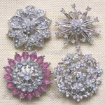 Flower-shaped Alloy Costume Brooches