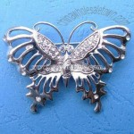 Flower-shaped Brooch with Nickel and Silver Plating's