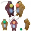 Foam Ball Shooter Bear Popper Toy