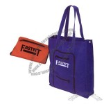 Foldable 70 denier nylon tote bag with 7.5