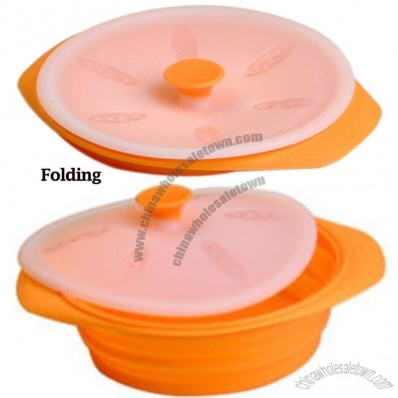Foldable Food Grade Silicone Steamer With Lid