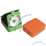 Foldable Leather Travel Alarm Clock