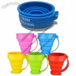 Foldable Silicone Cup, Easily Expand and Collapses Compactly