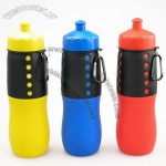 Foldable Silicone Water Bottle, Collapsible Sports Water Bottle