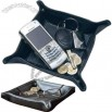 Foldable leatherette storage pouch - Coin Tray