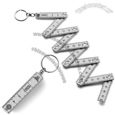Folding 50cm Ruler Keyring
