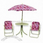 Folding Chair and Table and Umbrella