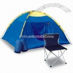 Folding Chair and Tent and Sleeping Bag