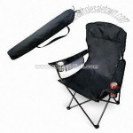 Folding Chair with Arc Headrest and PVC Backing