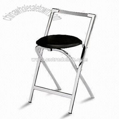 Folding Chair with Metal Tubes and PVC Seat Pad