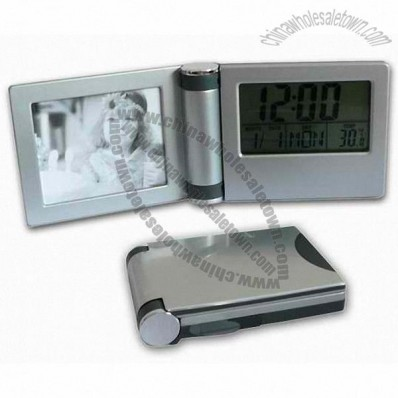 Folding LCD Clock with Photo Frame
