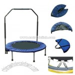 Folding Mini Trampoline with Hand Grip