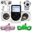 Folding Multifunction USB iPod Music Speaker with Card Reader and Car Power Charger
