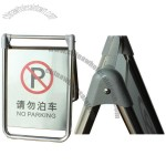 Folding Stainless Steel Caution Board 520x350x490