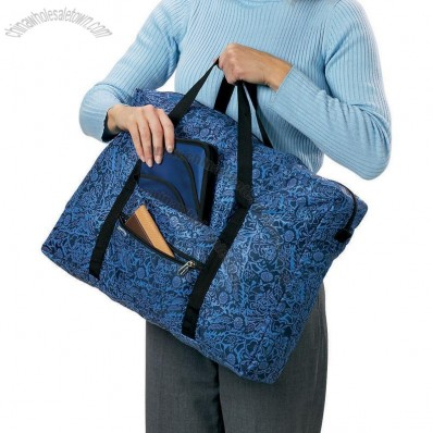 Folding Tote Bag in Blue Batik
