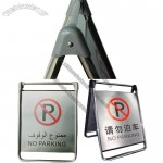 Folding Type Stainless Steel Caution Board