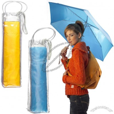 Folding Umbrella in Plastic Carrying Case