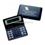 Folding dual power calculator with solar and battery powered