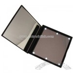 Folding mirror with LED