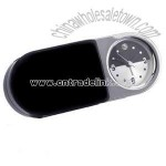 Folding polished silver alarm clock