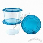 Food Storage Containers, Easy Pack with 1000mL Capacity and Green Lid