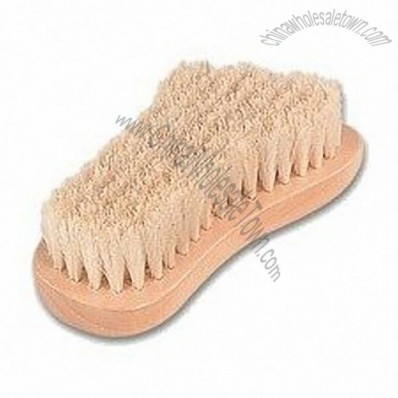 Foot Shape Nail Brush with Boar Bristles