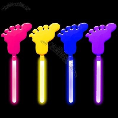 Foot Shaped Glow Stick Hand Clapper