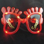 Foot Shaped Light-up Sunglasses