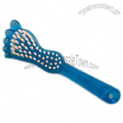 Foot-Shaped Nail Brush With Handle