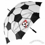 Football Design Fibreglass Golf Umbrella