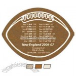 Football Faux suede coaster