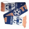 Football Scarf, 100% Acrylic with Jacquard Knitting