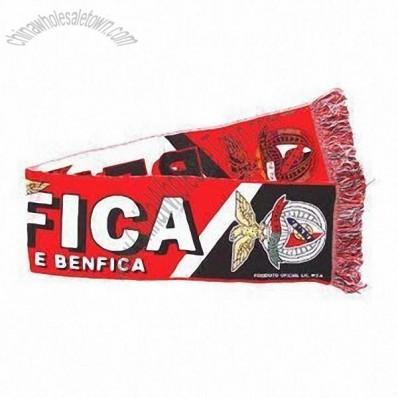 Football Scarf with Woven Effect