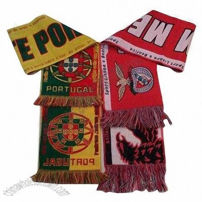 Football Scarves with Jacquard Logo