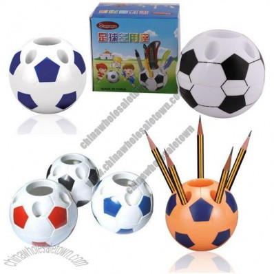 Football shaped Pen Holder with Clip Dispenser