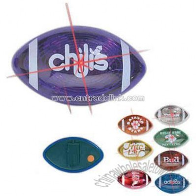 Football shaped flashing badge