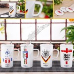 Football theme Ceramic Mug with Stainless steel Spoon