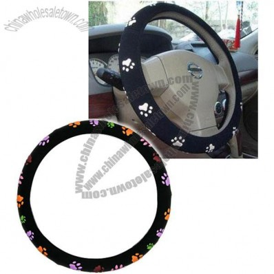 Footprints Design Steering Wheel Cover