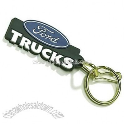 Ford Trucks Logo Plastisol Key Chain