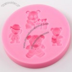 Four Bear Shaped Fondant Cake Mold