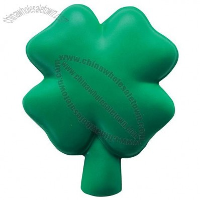 Four-Leaf Clover Shamrock Squeezies Stress Ball