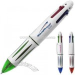 Four color multiple ink pen