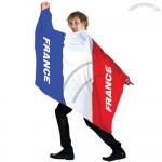 France Flag Body Cape