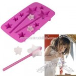 Fred Ice Princess Star-Shaped Ice Cube Tray with Straws